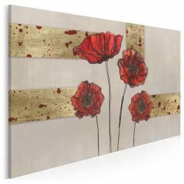 Wytworne maki - nowoczesny obraz do salonu - 120x80 cm