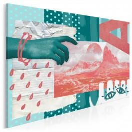 Sięgając marzeń - nowoczesny obraz na płótnie - 120x80 cm