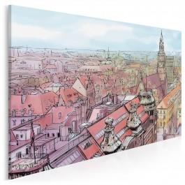 Wrocławski rynek - nowoczesny obraz na płótnie - 120x80 cm