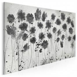 Kwietna hibernacja - nowoczesny obraz na płótnie - 120x80 cm