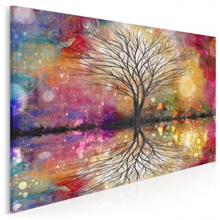 Leśna przepowiednia - nowoczesny obraz na płótnie - 120x80 cm