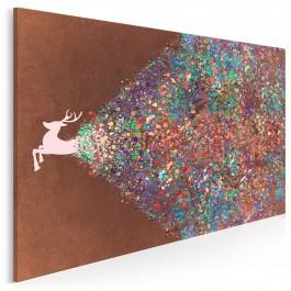 Epicentrum wyrazistości - nowoczesny obraz na płótnie - 120x80 cm