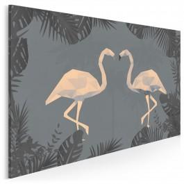Zwrotnikowy tandem - nowoczesny obraz na płótnie - 120x80 cm
