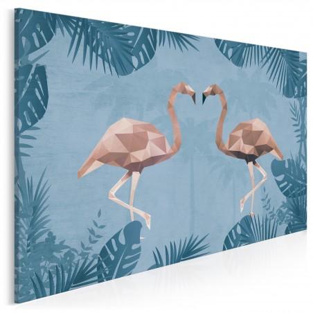 Tropikalny duet - nowoczesny obraz na płótnie