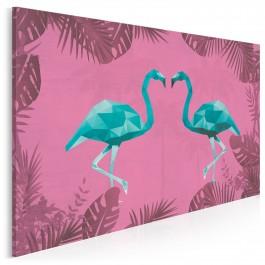 Egzotyczna para - nowoczesny obraz na płótnie - 120x80 cm