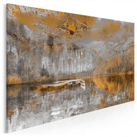 Tchnienie słońca - nowoczesny obraz na płótnie - 120x80 cm