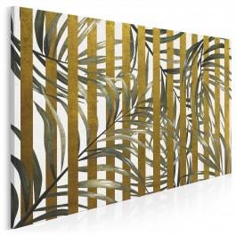 Złoty azyl - nowoczesny obraz do sypialni - 120x80 cm
