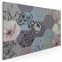 Aksamitne dygresje - nowoczesny obraz na płótnie - 120x80 cm