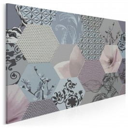 Jedwabna konstelacja - nowoczesny obraz na płótnie - 120x80 cm