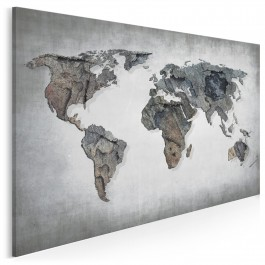 Szlakiem dolomitów - nowoczesny obraz na płótnie - 120x80 cm