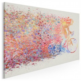 Peleton - nowoczesny obraz na płótnie - 120x80 cm