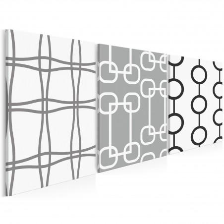 Aragonia - nowoczesny obraz na płótnie - 3szt. 50x70 cm
