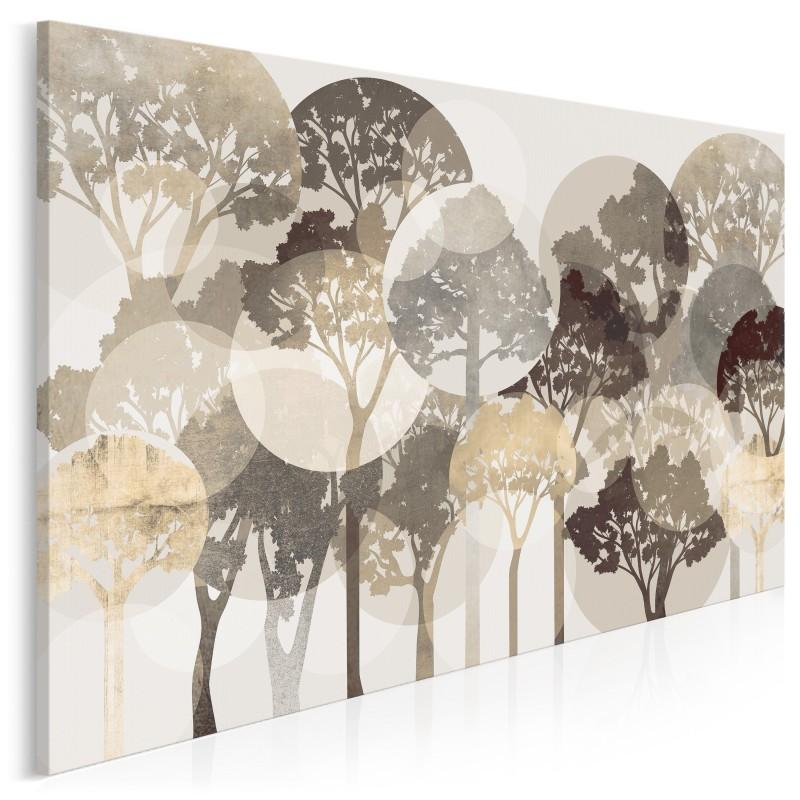 Świetliste brązy - nowoczesny obraz na płótnie - 120x80 cm