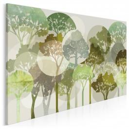 Migotliwe zielenie - nowoczesny obraz na płótnie
