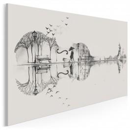 Akordy uczuć - nowoczesny obraz na płótnie - 120x80 cm
