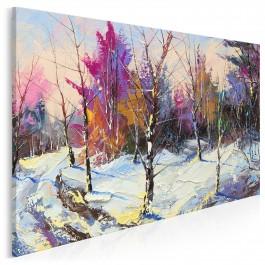 Mroźna ścieżka - nowoczesny obraz do salonu - 120x80 cm