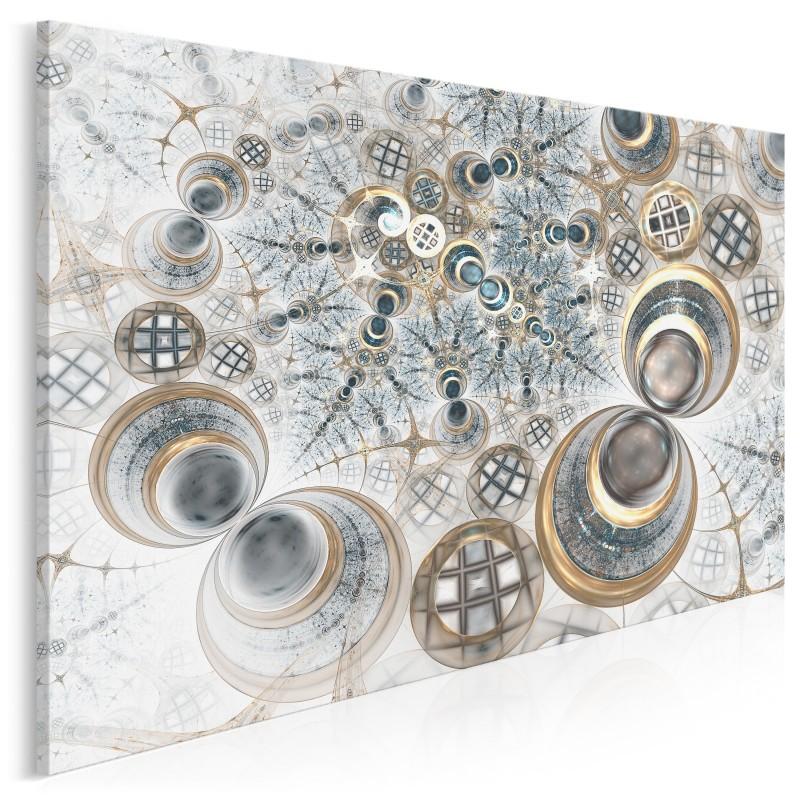 Efekt domina - nowoczesny obraz do sypialni - 120x80 cm