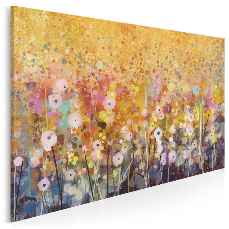 Florystyczna hegemonia - nowoczesny obraz do salonu - 120x80 cm