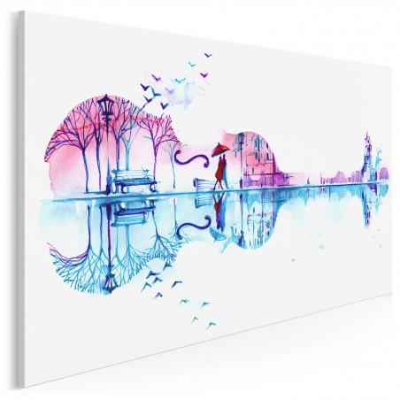 Muzyka serc - nowoczesny obraz na płótnie - 120x80 cm