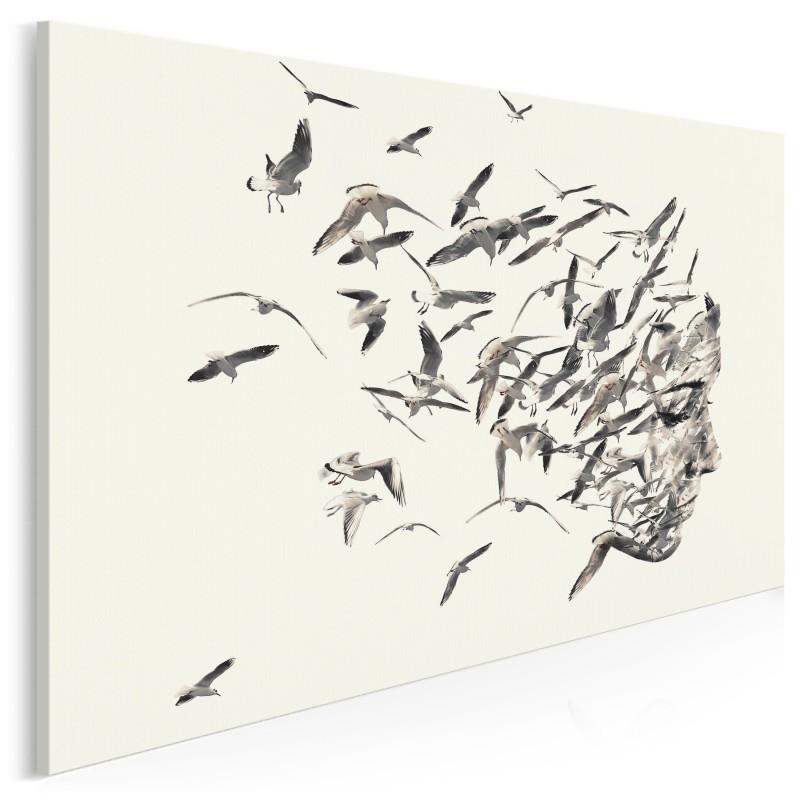 Uciekające myśli - nowoczesny obraz na płótnie - 120x80 cm