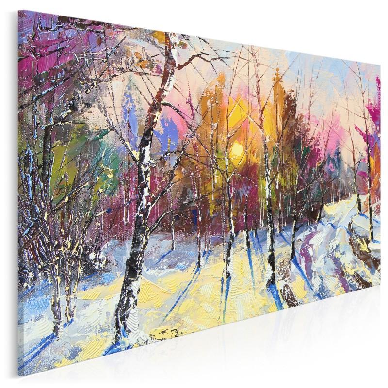Zimowy poranek - nowoczesny obraz do salonu