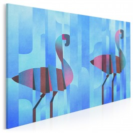 Skąpani w błękicie - nowoczesny obraz na płótnie - 120x80 cm