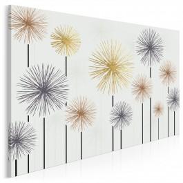 Zimne ognie - nowoczesny obraz na płótnie - 120x80 cm