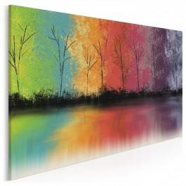 Po drugiej stronie tęczy - nowoczesny obraz na płótnie - 120x80 cm