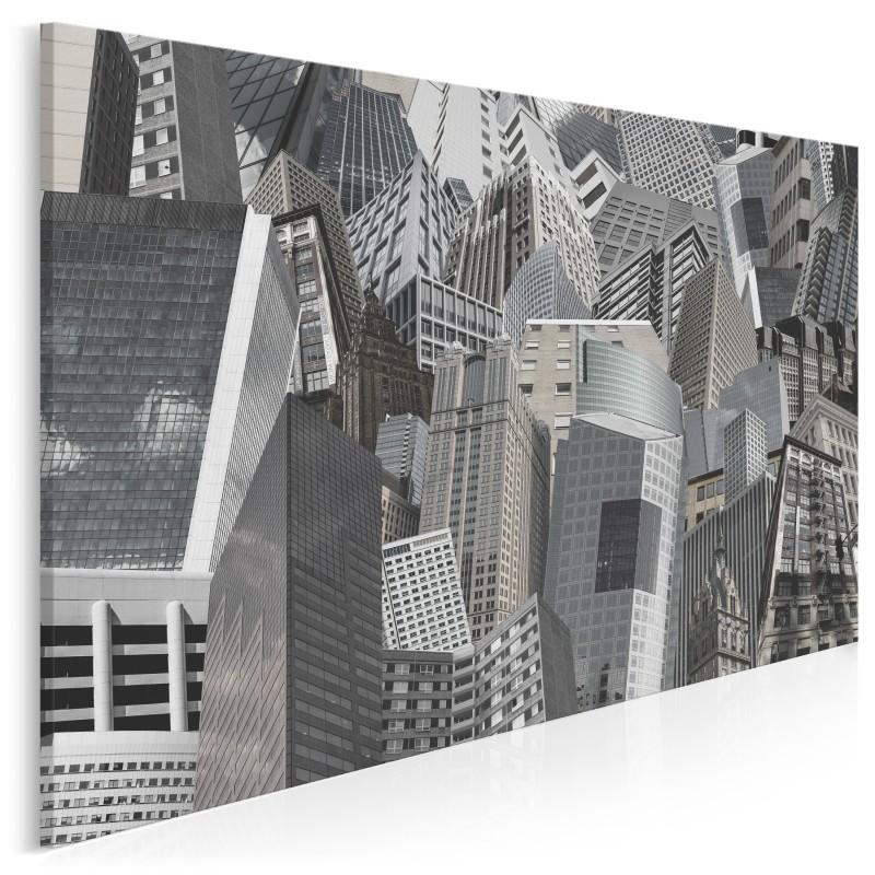 Szklane domy - nowoczesny obraz na płótnie - 120x80 cm