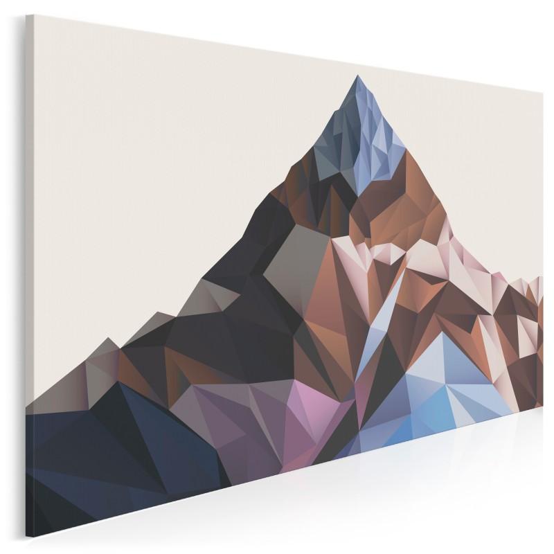 Kryształowe złoża - nowoczesny obraz do salonu - 120x80 cm