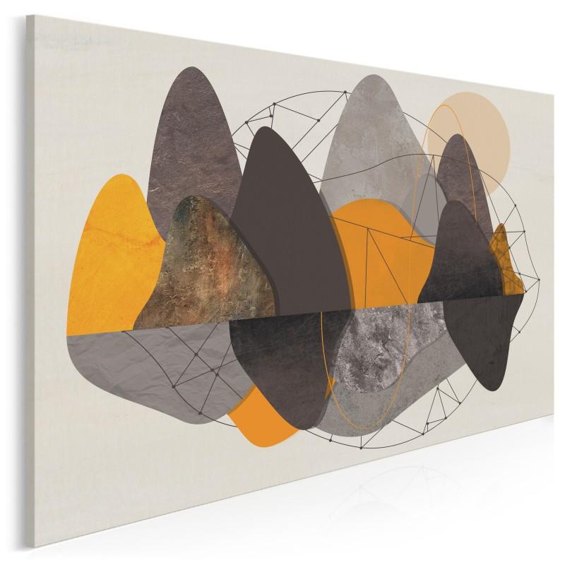 Skalny zakątek - nowoczesny obraz na płótnie - 120x80 cm