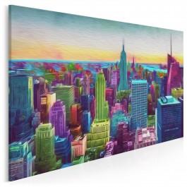 Kolory sukcesu - nowoczesny obraz na płótnie - 120x80 cm