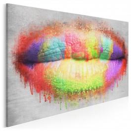 Kolorowych słów - nowoczesny obraz do salonu - 120x80 cm