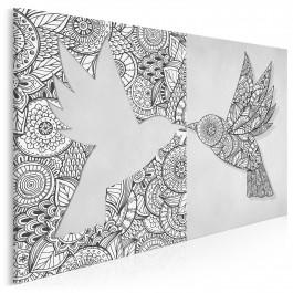 Skrzydlate origami - nowoczesny obraz do sypialni - 120x80 cm