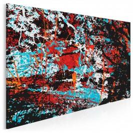 W cieniu ognistego drzewa - nowoczesny obraz na płótnie - 120x80 cm