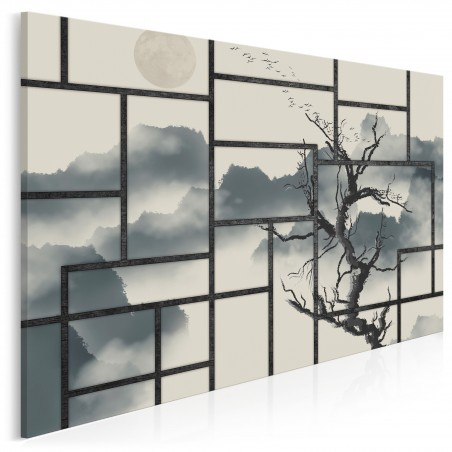 Asa po japońsku - nowoczesny obraz na płótnie - 120x80 cm