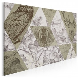 50 twarzy natury - nowoczesny obraz do sypialni - 120x80 cm