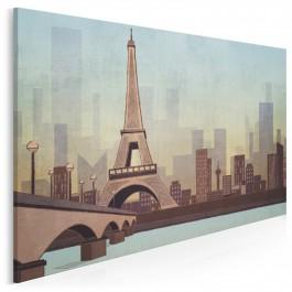 Spokój nad Sekwaną - nowoczesny obraz na płótnie - 120x80 cm