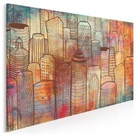 Wieże widokowe - nowoczesny obraz na płótnie - 120x80 cm