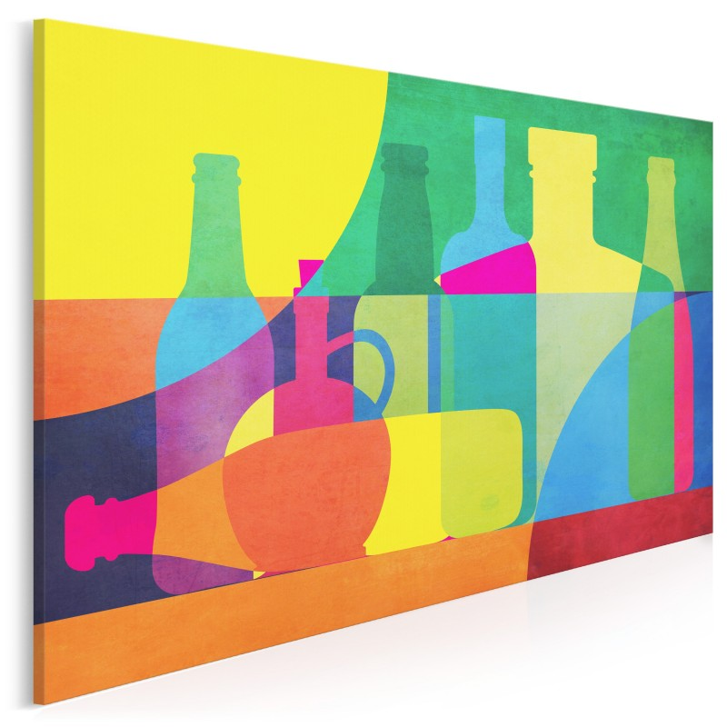 Butelki i karafki - nowoczesny obraz na płótnie - 120x80 cm
