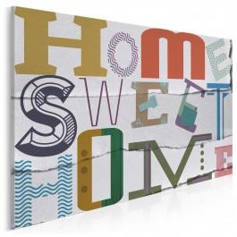 Sweet home - nowoczesny obraz na płótnie - 120x80 cm