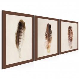 Urok ptasich piór - nowoczesny obraz na płótnie