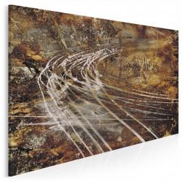 Dynamika w brązach - nowoczesny obraz do sypialni - 120x80 cm