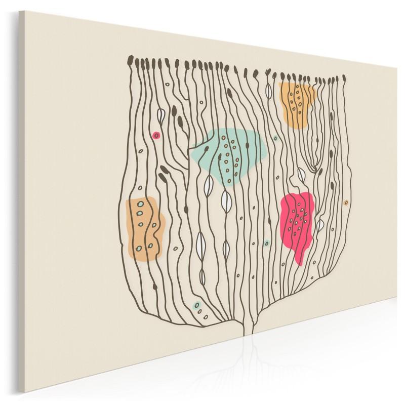 Abstrakcyjny kwiat w poziomie - nowoczesny obraz na płótnie