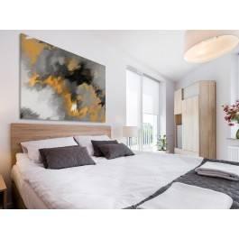 Płomienie na wietrze w żółciach - nowoczesny obraz na płótnie - 120x80 cm