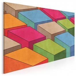 Kolorowe bloki - nowoczesny obraz na płótnie - 120x80 cm