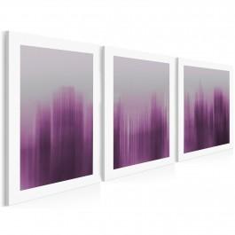 Abstrakcyjny Nowy Jork w trzech częściach - nowoczesny obraz na płótnie
