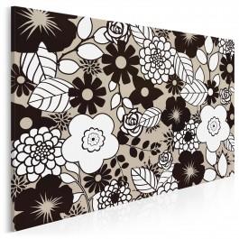 Wzorzysty obraz kwiecisty - nowoczesny obraz na płótnie - 120x80 cm