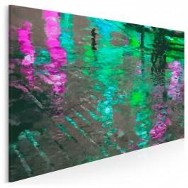 Odbicie magicznego miasta - nowoczesny obraz do salonu - 120x80cm