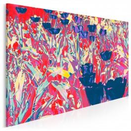 Kwiatowa abstrakcja - nowoczesny obraz na płótnie - 120x80 cm
